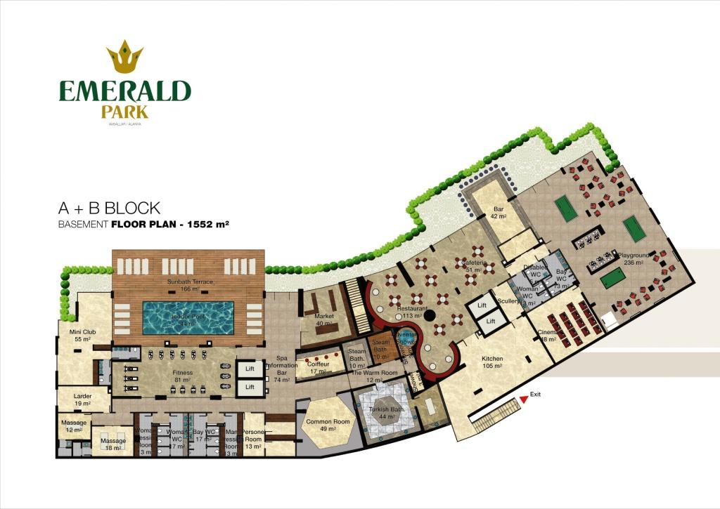 Emerald park alanya floor plans for Deck blueprints online